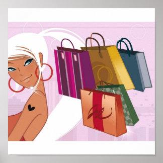Shopping Girl Poster