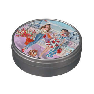 Shopping girls in Paris | Jelly Belly™ Beans Tin