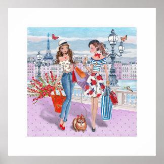 Shopping Girls | Paris| Poster