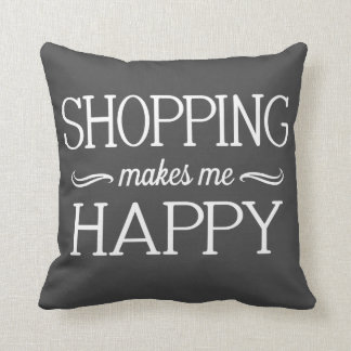 Shopping Happy Pillow - Assorted Styles & Colors