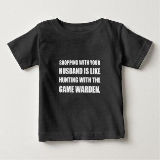 Shopping Husband Hunting Game Warden Baby T-Shirt