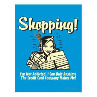 Shopping: I'm Not Addicted Postcard