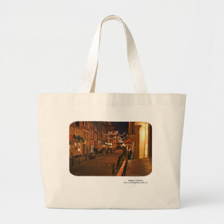 Shopping in Amsterdam Large Tote Bag
