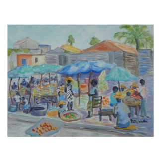 SHOPPING IN HAITI Poster