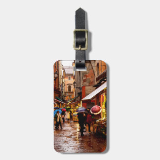 Shopping in the Rain Luggage Tag