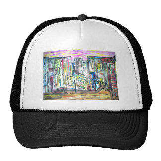 Shopping in Town Mesh Hat