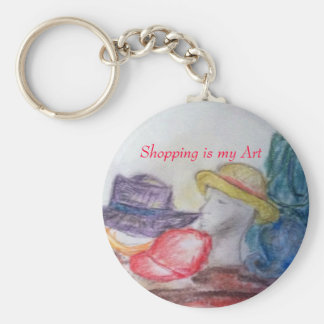 Shopping is my Art pastel keychain