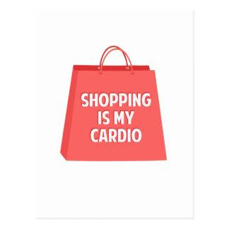 Shopping is my Cardio Postcard