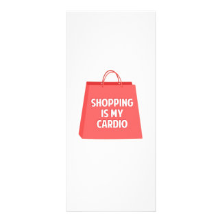 Shopping is my Cardio Rack Card