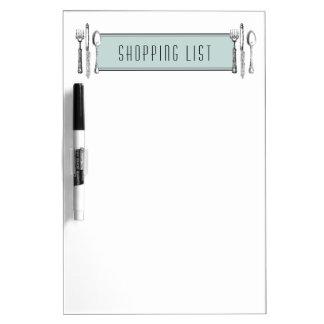 Shopping List Dry Erase Board