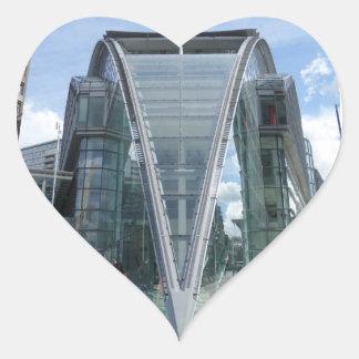 Shopping Mall London Heart Sticker