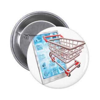 Shopping phone app concept pin
