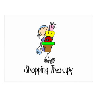 Shopping Therapy Postcard