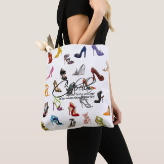 Shopping Tote Cinderella Quote Shoes Heels Pumps