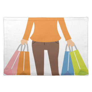 Shopping Woman Placemat
