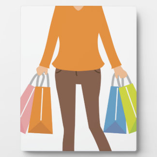 Shopping Woman Plaque