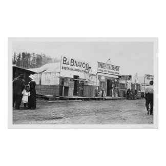 Shops in Anchorage, Alaska 1914 Poster