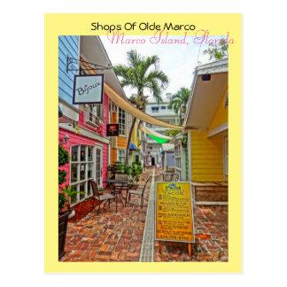 Shops Of Olde Marco - Marco Island Florida Postcard