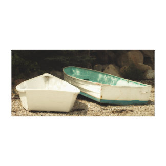 Shore Boats Maine Wrapped Canvas