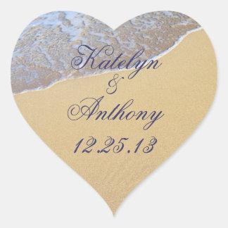 Shore Love Custom Wedding Sticker or Favor Label