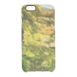 Shore of a small lake clear iPhone 6/6S case