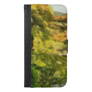 Shore of a small lake iPhone 6/6s plus wallet case