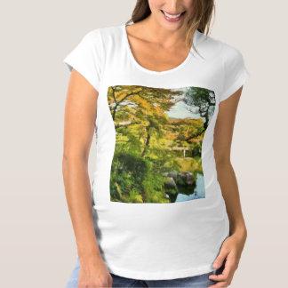 Shore of a small lake maternity T-Shirt