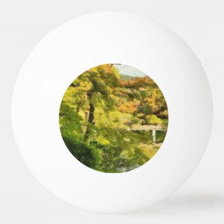 Shore of a small lake ping pong ball