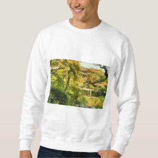 Shore of a small lake sweatshirt