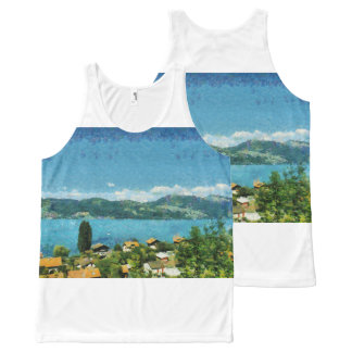 Shore of the lake All-Over-Print tank top