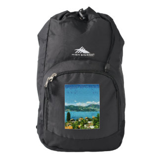 Shore of the lake backpack