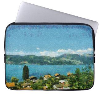 Shore of the lake computer sleeve