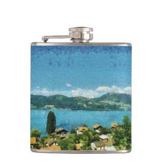 Shore of the lake hip flask