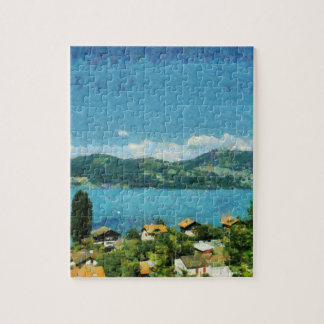 Shore of the lake jigsaw puzzle
