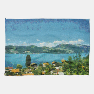 Shore of the lake kitchen towel