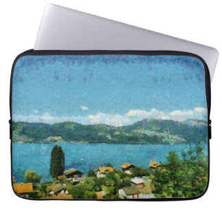 Shore of the lake laptop sleeve