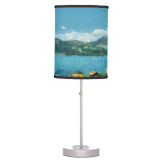 Shore of the lake table lamp