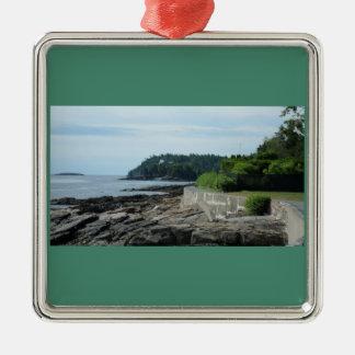 Shore Path, Bar Harbor, Maine Ornament