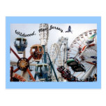 Shore Pier-Wildwood Text Postcard