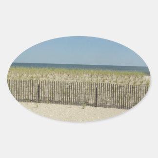 Shore Sea Oval Sticker