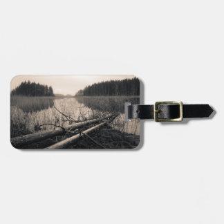 Shore trees luggage tag