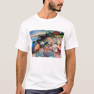Shore with Red House by Edvard Munch T-Shirt