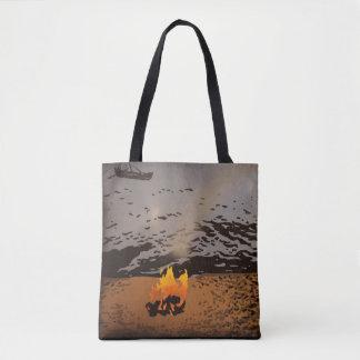 """Shoreline"" All-Over-Print Tote Bag"