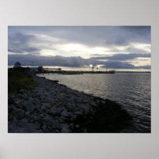 Shoreline at Dusk Poster