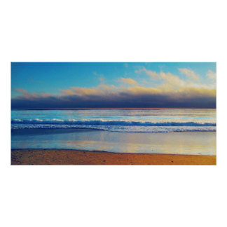 Shoreline photo painting poster