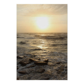Shoreline Sunrise Poster