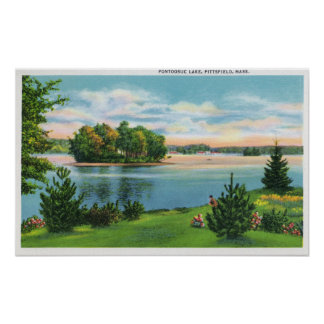 Shoreline View of Pontoosuc Lake Poster