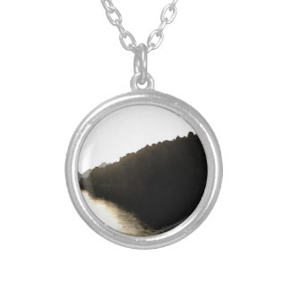 Shores Of Darkness Silver Plated Necklace