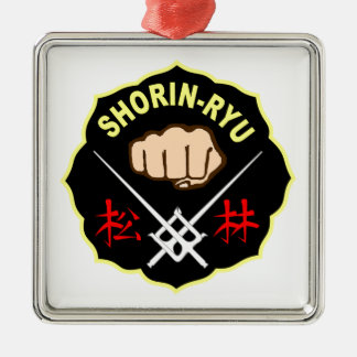 SHORIN RYU KARATE PATCH SYMBOL KANJI METAL ORNAMENT