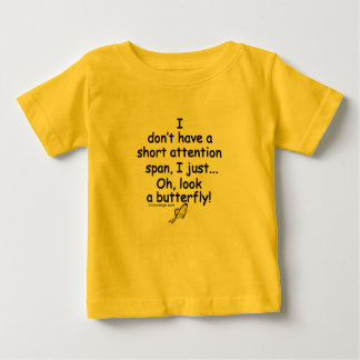 Short Attention Span Butterfly Humor Tees